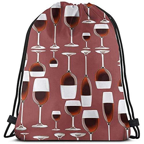 hdyefe Gym Drawstring Bags, Wine Tote Rucksack Sackpack Gym Sack Bag für Gym Badeschuhe Aufbewahrung Bagmotion 13063