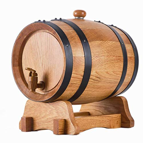 Barril de vino, Dispensador del barril del roble 3L, barril de vino del roble de madera del vintage para el tenedor del barrilete del vino del almacenamiento del barril del puerto del ron del whisky d