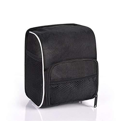 Bike Handlebar Bag Bicycle Front Bag Waterproof Bicycle Handle Bag Bicycle Bag Large Capacity for Road MTB Outdoor (Color : Black, Size : 10x17x20cm)