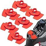 Vestigia - Amortiguadores de vibración de goma de 6 piezas para Xiaomi M365 1S Essential Pro Scooter eléctrico - Accesorios de goma para scooter - Piezas de repuesto para E-scooter (rojo)