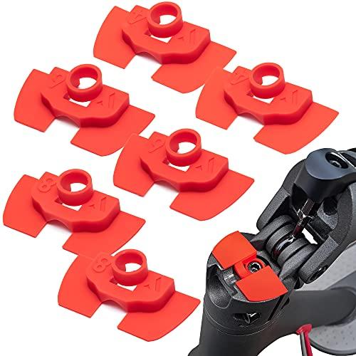 Vestigia® - Amortiguadores de vibración de goma de 6 piezas para Xiaomi M365 1S Essential Pro Scooter eléctrico - Accesorios de goma para scooter - Piezas de repuesto para E-scooter (rojo)