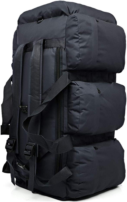 PIGE Coco 90L Multifunktions-Auenrucksack, Groraum-Camping-Rucksack-Zelt, aufgegebenes Gepck Tasche, Auto-Rucksack, Fitness-Rucksack (Farbe   Schwarz)