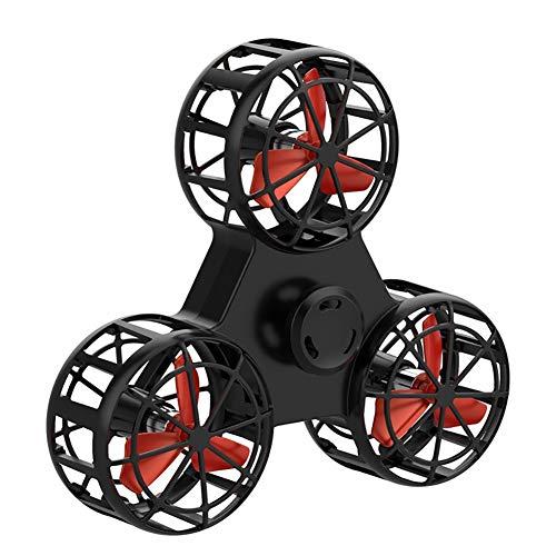 Fidget Spinnes, Flying Drone De Juguete, El Alivio Del Estrés Alivio De La Ansiedad De La Persona Agitada Triángulo Rotación Spinning Juguetes Divertidos Aviones, Alternativos A Los Videojuegos,Negro