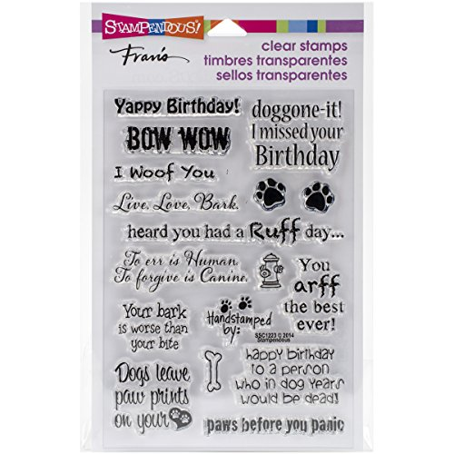 Stampedous SSC1223 STAMPENDOUS Clear Stamps, Dog Sayings