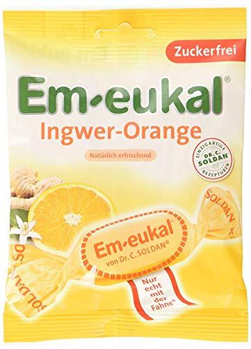 20 Beutel Em-eukal Em-eukal Ingwer Orange echt mit der Fahne a 75g Em Eukal Hustenbonbon Euka