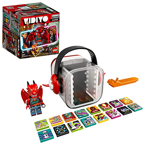 LEGO 43109 VIDIYO Metal Dragon Beatbox Music Video Maker, Musik Spielzeug Set für Kinder mit AR App und Drachen Minifigur