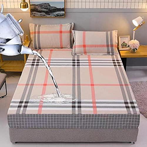 HPPSLT Sábana encimera de microfibra, sin plancha, transpirable, algodón suave, impermeable, 5 x 180 x 200 cm