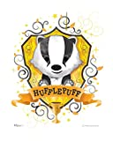 MightyPrint Harry Potter – Wall Art – Hufflepuff – Officially Licensed Wall – NOT Made of Paper – Strong Reusable Décor for Kid Baby Nursery Dorm – by Trend Setters Ltd.