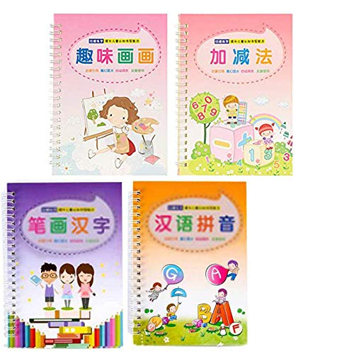 [US Stock] Kids Magic Writing Board with Pen,Reusable Magic Writing Paste Children,Be Reused Handwriting Copybook Set Magic Calligraphy,Tracing Book Calligraphic Letter Writing Easel