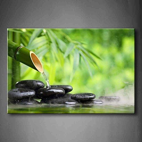 Grün Spa Immer Noch Leben Mit Bambus Brunnen Und Zen Stein Im Wasser Wandkunst Malerei Das Bild Druck Auf Leinwand Botanisch Kunstwerk Bilder Für Zuhause Büro Moderne Dekoration