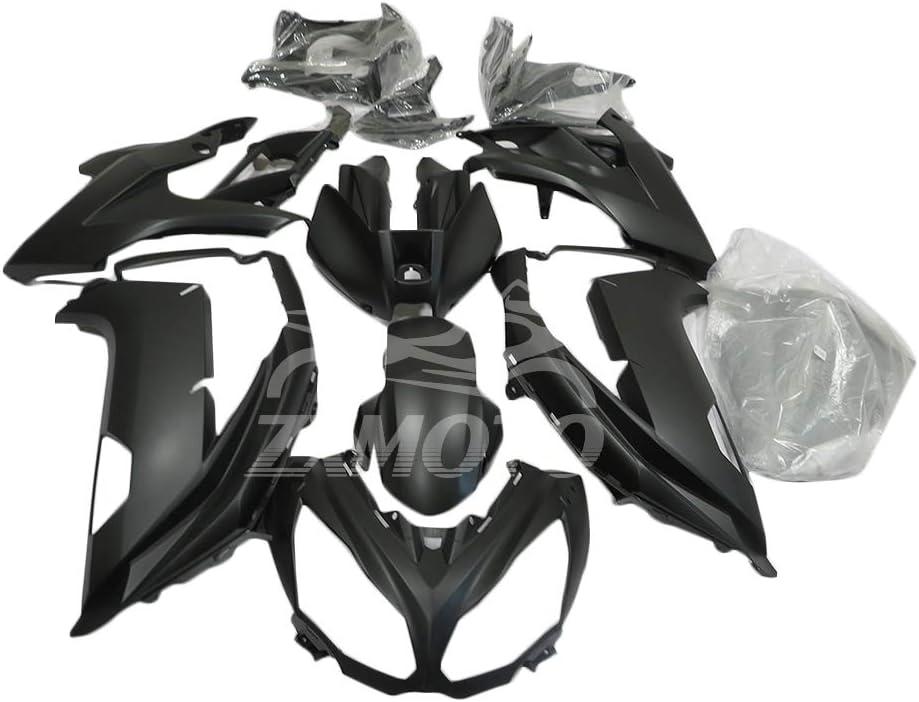 ZXMOTO Matte Bargain sale Black Motorcycle Bodywork Ranking TOP9 Fairing For Kit Kawasaki