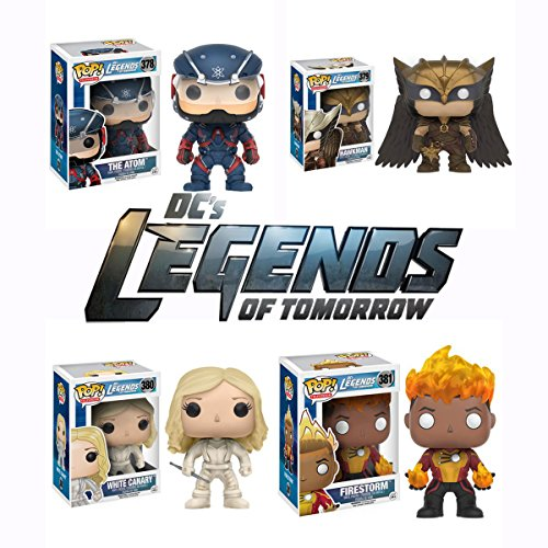 Pop! TV: DCs Legends of Tomorrow - The Atom, Hawkman, White Canary, and Firestorm Vinyl Figures! Set of 4 by Legends of Tomorrow