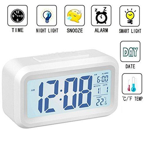 Wecker Digital, TKSTAR Größter HD Bildschirm Intelligente Nachtlicht Wecker Alarm Clock Für...