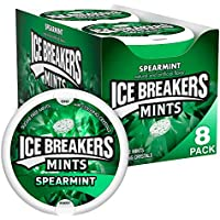 8-Pack Ice Breakers Sugar Free Spearmint Mints 1.5 Ounce