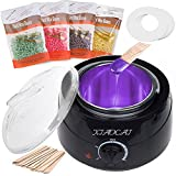 Waxing Kit Wax Warmer for Women Wax Kit With 4 Packs of Hard Wax Beads 10 Pcs Spatulas, Painless at Home Wax Kit Hair Removal Kit with Handle Pot 500ml for Paraffin Soft Wax Cream Wax