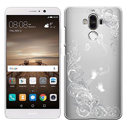 「Breeze-正規品」iPhone ・ スマホケース ポリカーボネイト [透明-White]ファーウェイ メイト9 ケース HUAWEI Mate 9 SIMフリー MATE9ケース MATE9カバー 液晶保護フィルム付 全機種対応 [MATE9]