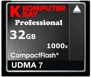 Komputerbay Profesional - Tarjeta Compact Flash 32GB 1000x CF 150 MB/s velocidad extrema UDMA 7 RAW 32GB