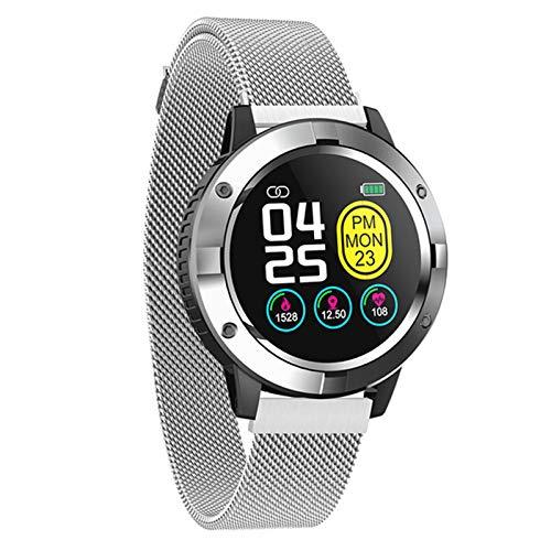 ADH Reloj Inteligente Q10, Reloj Inteligente Impermeable para Las señoras IP67, Pulsera de los Hombres, Monitor de Ritmo cardíaco, Modo Multi-Deporte, Rastreador de Fitness, Podómetro,A