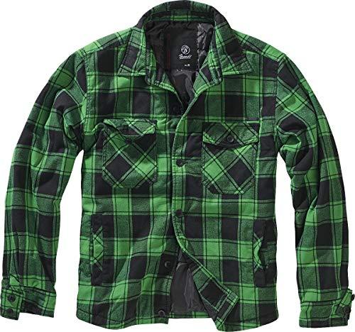 Brandit Lumber Hemdjacke schwarz/grün- 5XL