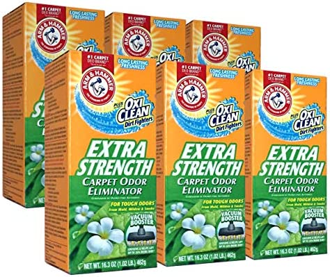 New 361970 Arm Hammer Extra Strengh 16 3Z Carpet Odor Eliminator 6 Pack Laundry Detergent Cheap product image
