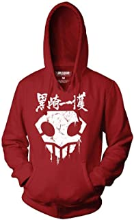 Bleach Adult Unisex Skull with Blood Drips Pull Over Fleece Hoodie