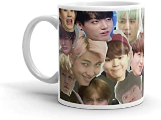 Tyna Ho BTS - MEME FACE COLLAGE Suitable For Hot And Cold Drinks 11 Oz