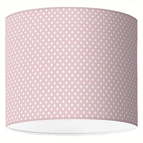 Lampenschirm Ø40 cm - Basic Punkte Weiß-Altrosa