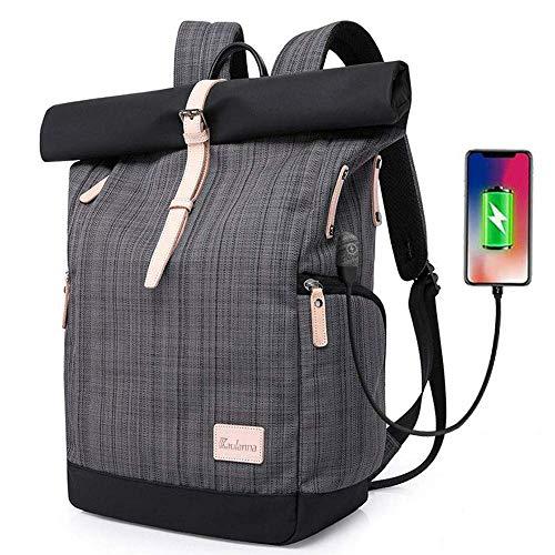 Laptop Rucksack Tasche Daypack Diebstahlsicherung Tagesrucksack Daypack Mode Rucksack Roll...