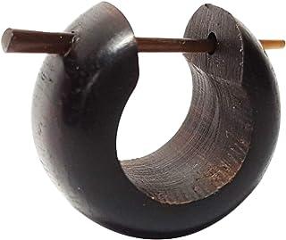 Chic-Net Orecchini a cerchio da uomo e donna, in legno e corno in diversi legni