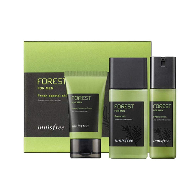マラウイ防腐剤気晴らしイニスフリーフォレストフォーマンフレッシュスキンケアセットスキンローションクレンジングフォームメンズコスメ 韓国コスメ、innisfree Forest for Men Fresh Skincare Set Skin Lotion Cleansing Foam Korean Cosmetics [並行輸入品]
