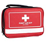 First Aid Kit - 100 Pieces - Includes Emergency Foil Blanket, Bandage