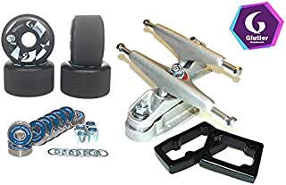 Glutier Set Surfskate Trucks T12 70mm 83a Black...