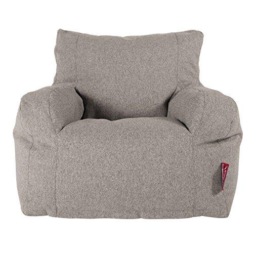 Lounge Pug, Sitzsack Ohrensessel, Interalli Wolle Silber