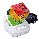 LTLGHY Blood Pressure Monitor, Digital Automatic Upper Arm Blood Pressure Monitor and Heart Rate Pulse with Wide-Range Cuff for Home Use, 2 X 99 Memories, Large Three-Color Backlight Display