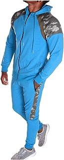 Men's 2 Piece Tracksuit Set, Zipper Hoodie Coat Jacket Elastic Pants Sweatpants for Jogger Sports Gym Fitness Running