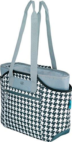 alfi Thermo-Kühltasche, isoBag mittel 23 Liter - Isolierte Einkaufstasche aus Polyester, weiß-schwarz kariert 57 x 38 x 50 cm - 2in1, Isoliertasche inkl. extra Tragetasche - 0007.802.812