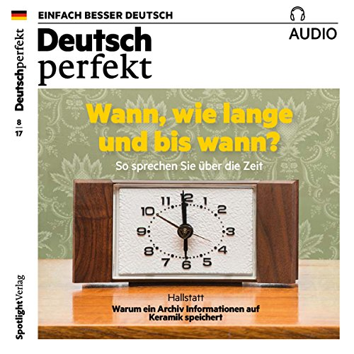 Deutsch perfekt Audio. 8/2017 audiobook cover art