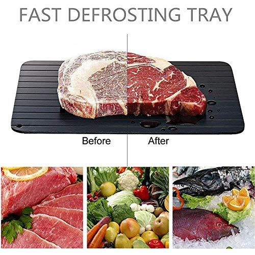 W.KING Aluminium Defrost plank snel ontdooien dienblad voor het ontdooien van frozen food fast-ontdooibak, bakplank, defrost keuken gadget-gereedschap