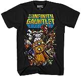 Marvel Thanos Avengers War Gauntlet Hulk Spider-Man Iron Man Strange Adult Men's Graphic Tee T-Shirt Apparel (Black, Small)