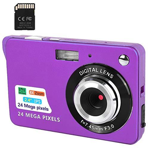 Digitalkamera 1080P 2,4 Zoll LCD Touch Screen Digital Zoom Weitwinkel Backpacking Wiederaufladbar Mini Kamera 24MP 4K Student.