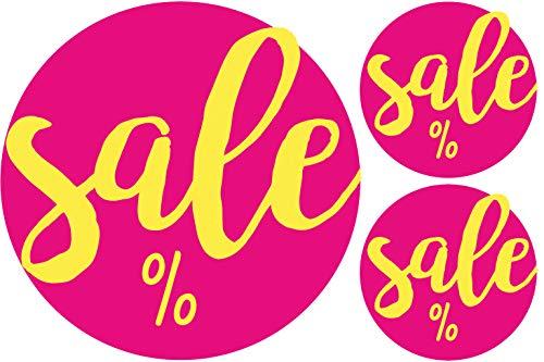 AVERY Zweckform 300 Etiketten Sale Aktion (Promotion Sticker selbstklebend auf Rolle, Ø38 / Ø17 mm, im Spender, zuverlässig haftend, rund) 3847