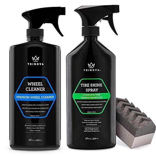 TriNova Wheel Cleaner and Tire Shine Bundle - Clean Rims, Wheels and Shine & Protect Your Tires