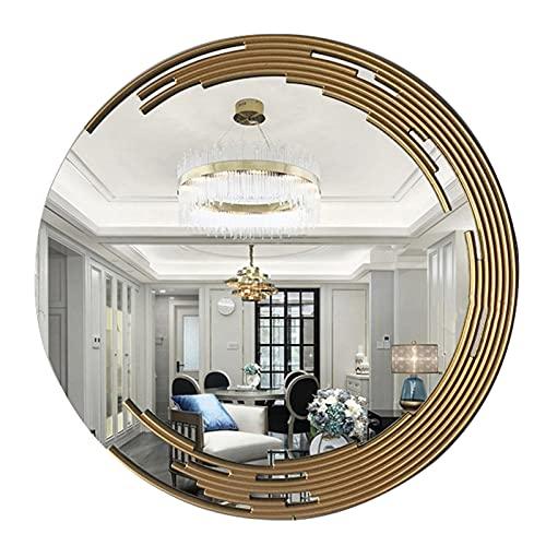 XIAOYUE Espejo de Tocador Moderno, Espejo Maquillaje Redondos, Espejo de Baño Decorativos Espejo de Pared, 70cm/80cm/90cm/100cm