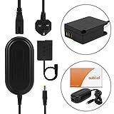 subtel® Netzteil kompatibel mit Panasonic G7 G70 G6 G5 G80 G81 GX8 GH2 FZ1000 FZ200 FZ2000 FZ300 Lumix DMC-FZ1000 DMC-FZ300 DMC-G7, 3m DMW-AC8 + DMW-DCC8 Stromadapter AC Adapter Netzadapter