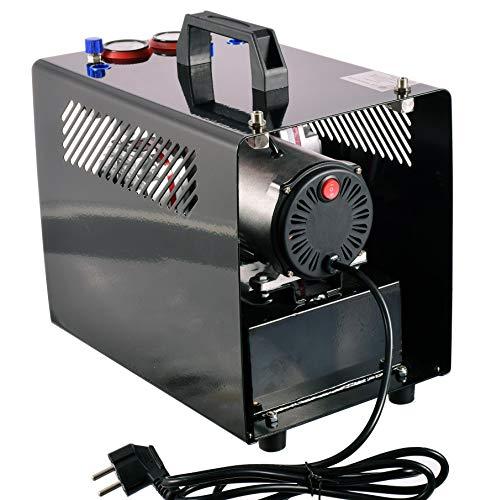 Kompressor für Airbrush Zweizylinder Lufttank Doppelkolben 3L 6BAR 46L/min Automatik