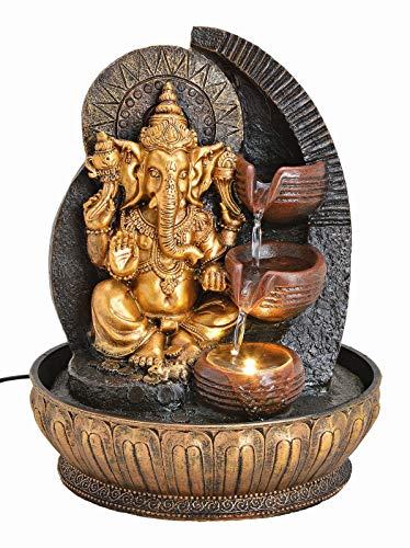 Wurm GmbH + Co KG Zimmerbrunnen Ganesha mit Beleuchtung Brunnen Indoor Figur Statue Hinduismus