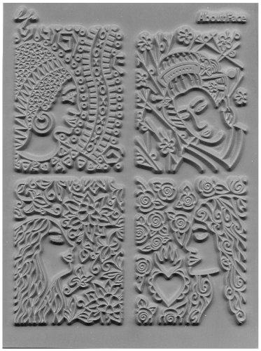 Geweldig elastiek Lisa Pavelka enkele textuur stempel 10,8 cm x 14, about Face