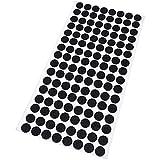 Adsamm® | 128 x Filzgleiter | Ø 12 mm | Schwarz | rund | 1.5 mm dünne selbstklebende Filz-Möbelgleiter in Top-Qualität