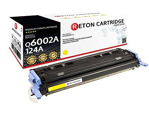 Original Reton Toner, kompatibel, ersetzt Q6002A HP 124A HP Color Laserjet 1600 2600N 2600DN 2605DTN HP Color Laserjet CM1015 CM1015MFP CM1017 CM1017MFP produziert in Anlehnung an DIN33870-1