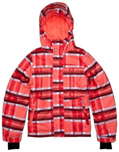 O'NEILL SPORT Girl'S Carat - Chaqueta de esquí para niña, tamaño 8 años, Color Rosa AOP